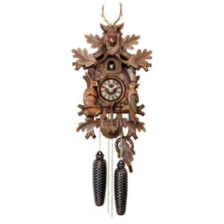Schwarzwald Kukur, Antikbejdset/malet nøddetræ, 8 døgns mekanisk urværk