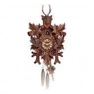 Schwarzwald Kukur, Antikbejdset nøddetræ, 1 døgns mekanisk urværk, Hjort