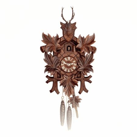 Schwarzwald Kukur, Antikbejdset nøddetræ, 1 døgns mekanisk urværk,