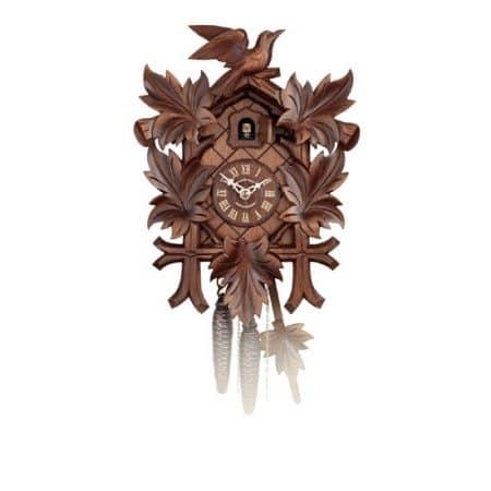 Schwarzwald Kukur, Antikbejdset nøddetræ, 1 døgns mekanisk urværk, Fugl