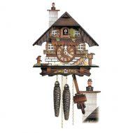 Schwarzwald Skorstensfejer Kukur, Antikbejdset/malet nøddetræ, 1 døgns mekanisk urværk