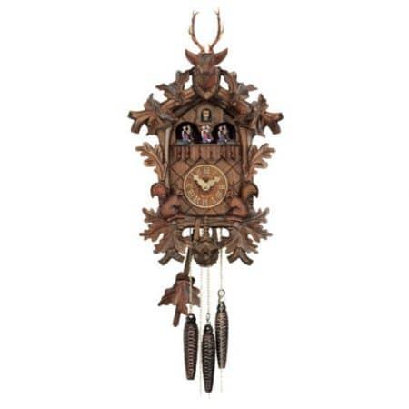 Schwarzwald Kukur, Malet nøddetræ, 1 døgns mekanisk urværk med musik