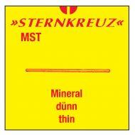 Mineral glas, tykkelse 0,7 - 0,8 mm.