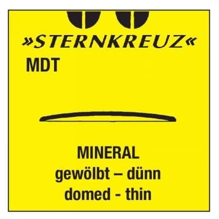 Buet mineral glas, tykkelse 0,7 - 0,8