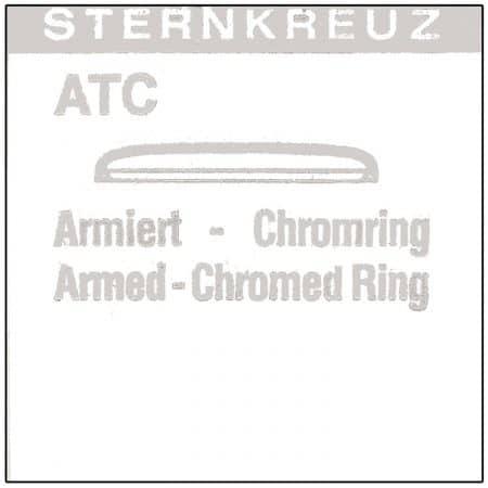 Plexi glas, type ATC, chrome armeret